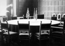 The conference room at Cecilienhof castle in Potsdam
