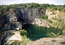 The infamous quarry at the Groß-Rosen concentration camp