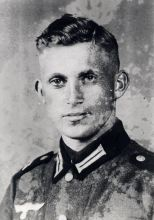 Despite being a member of the intelligence unit at the Gestapo branch in Kielce, this photo shows him wearing the uniform of the armed forces in 1943